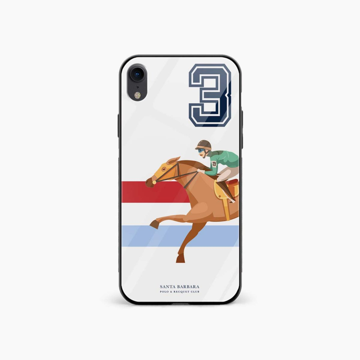 3 d santa barbara polo apple iphone xr back cover front view
