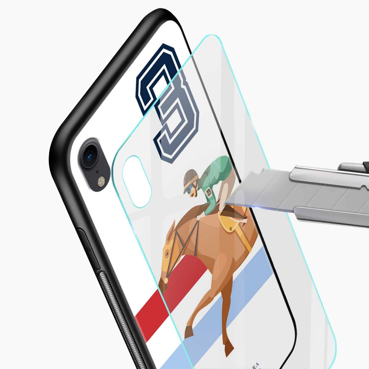 3 d santa barbara polo apple iphone xr back cover glass view