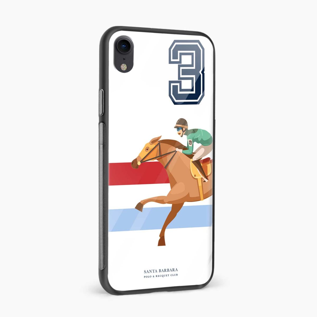 3 d santa barbara polo apple iphone xr back cover side view