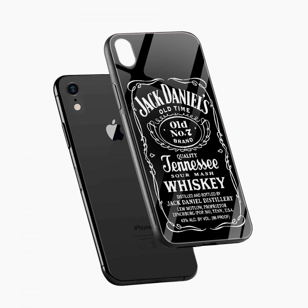 jack daniels whiskey apple iphone xr back cover diagonal view