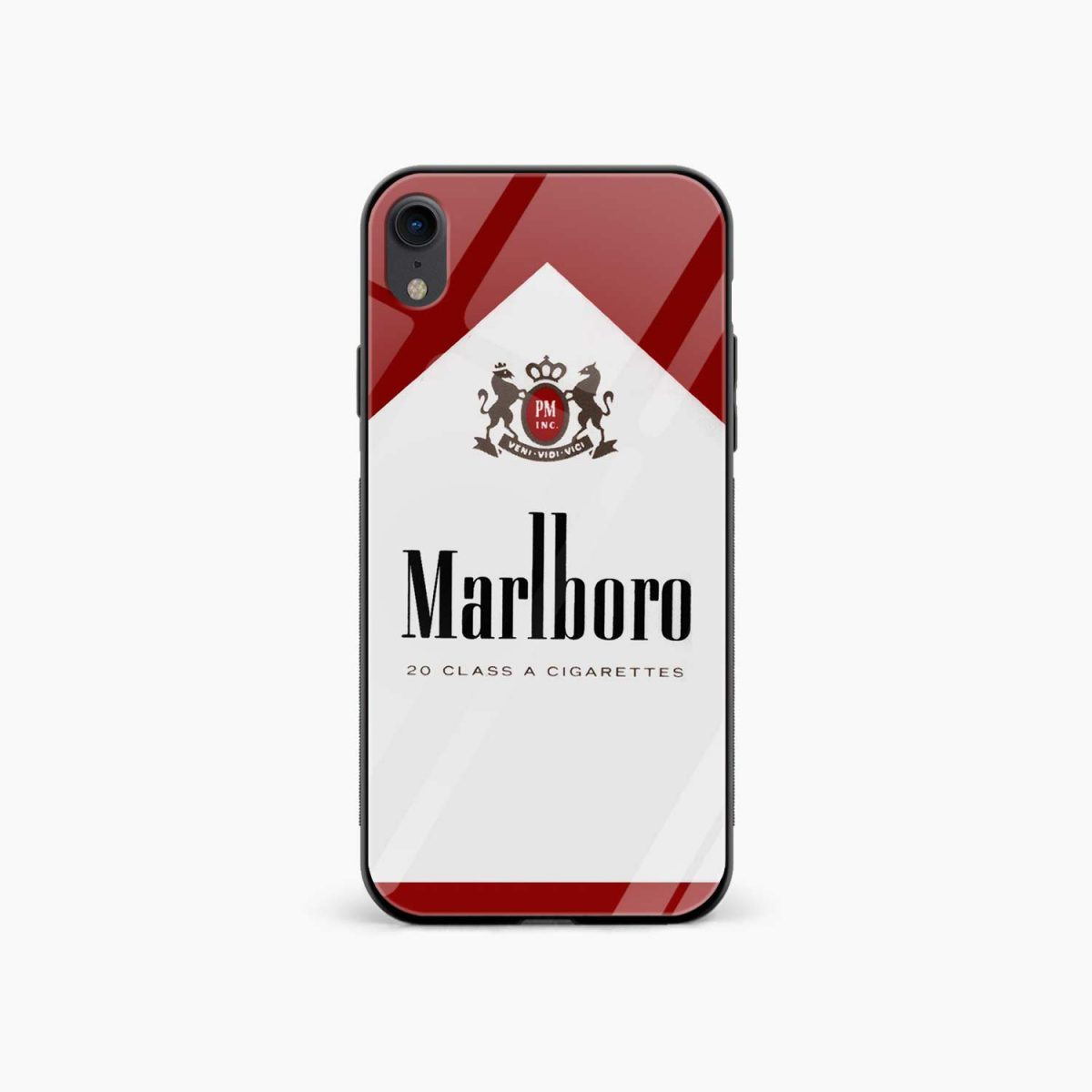 marlboro cigarette box apple iphone xr back cover front view