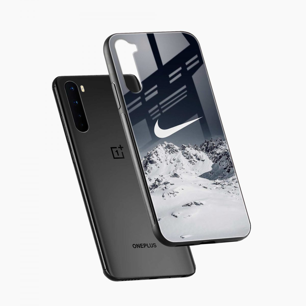 nike mountains diagonal view oneplus nord back cover