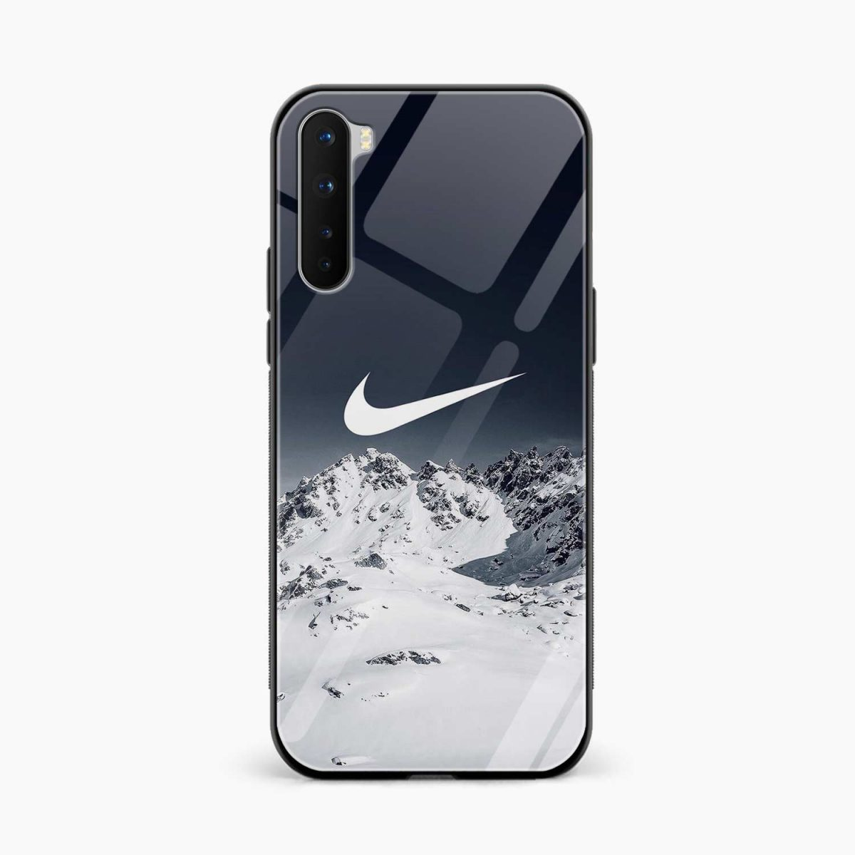 nike mountains front view oneplus nord back cover