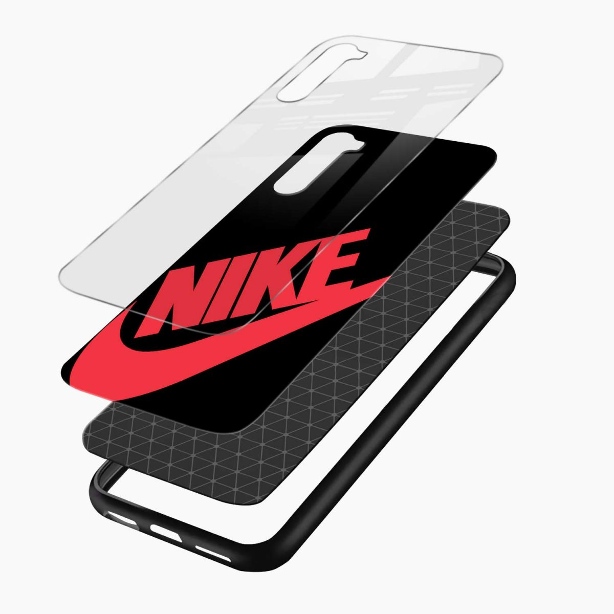 big red nike layers view oneplus nord back cover