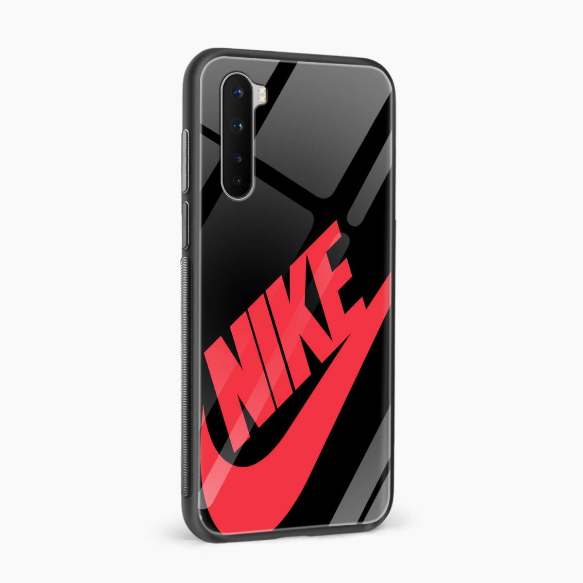 big red nike side view oneplus nord back cover