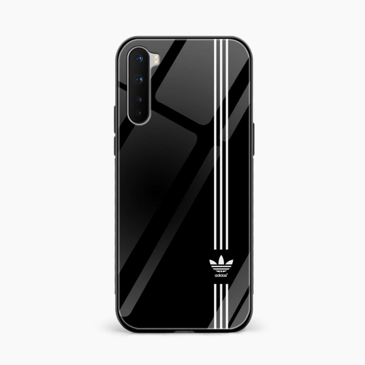 white striped adidas front view oneplus nord back cover