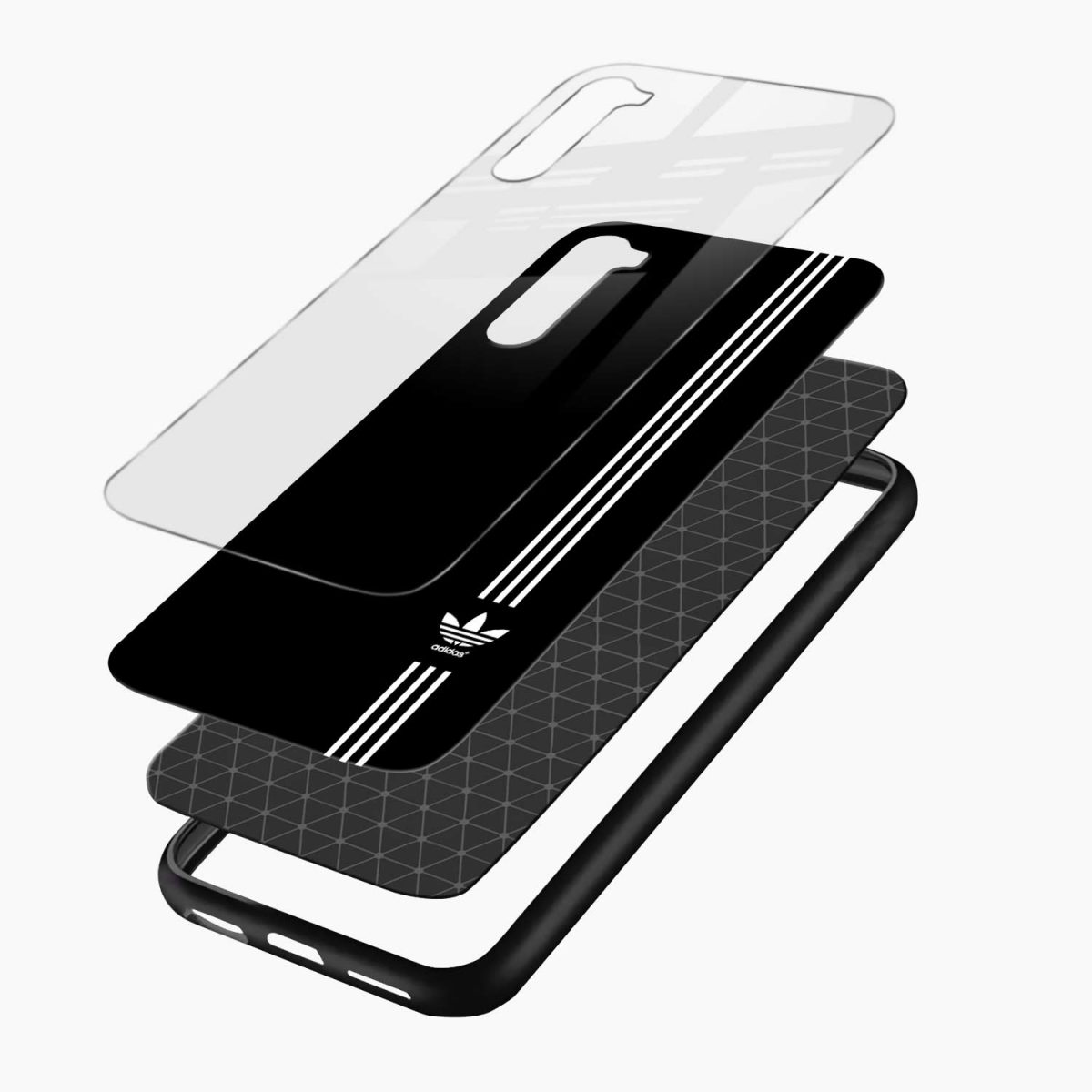 white striped adidas layers view oneplus nord back cover