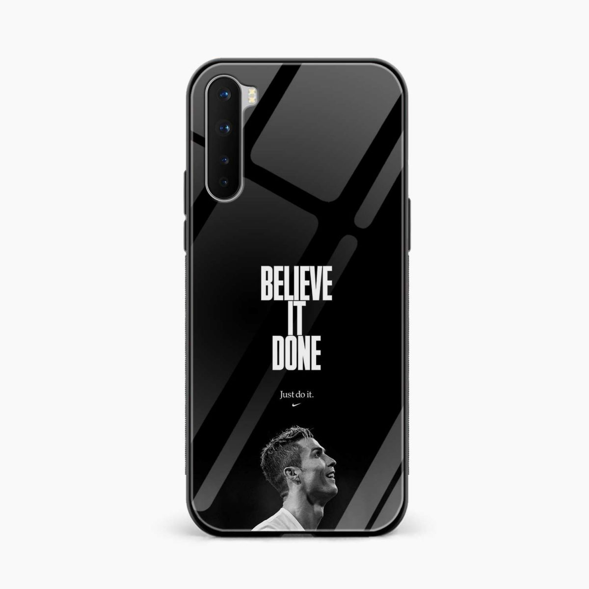 christiano ronaldo black white front view oneplus nord back cover