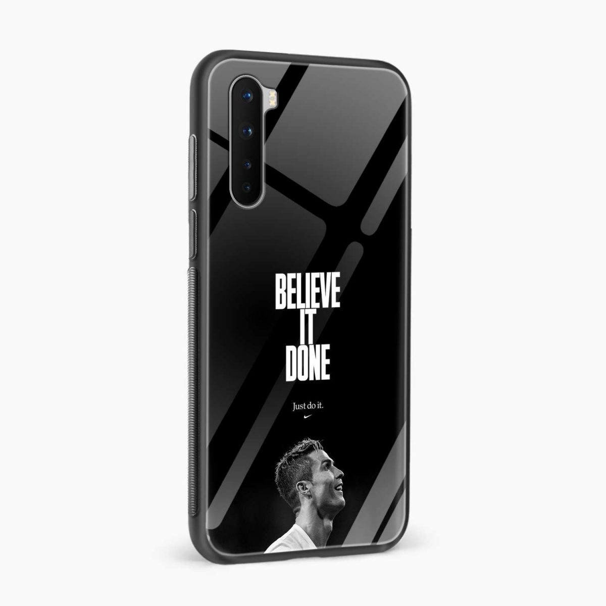 christiano ronaldo black white side view oneplus nord back cover