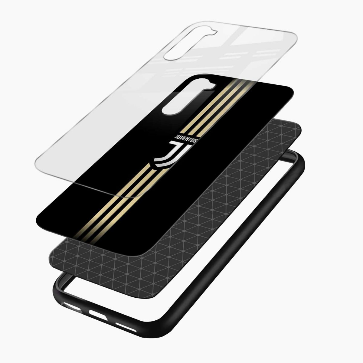 juventus golden strips layers view oneplus nord back cover