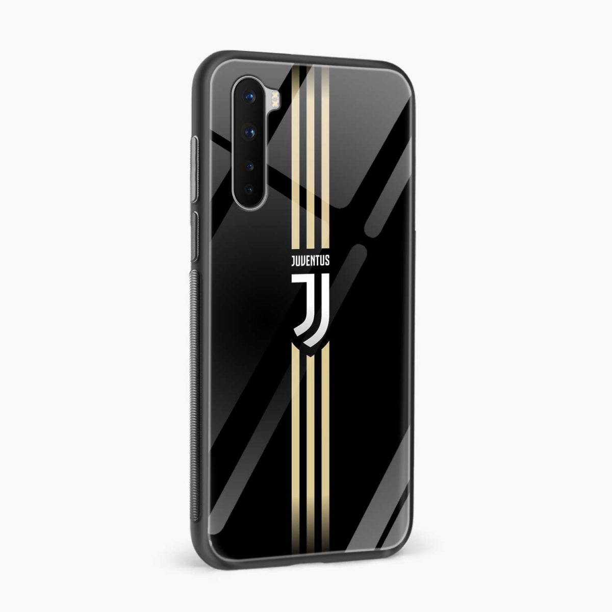juventus golden strips side view oneplus nord back cover