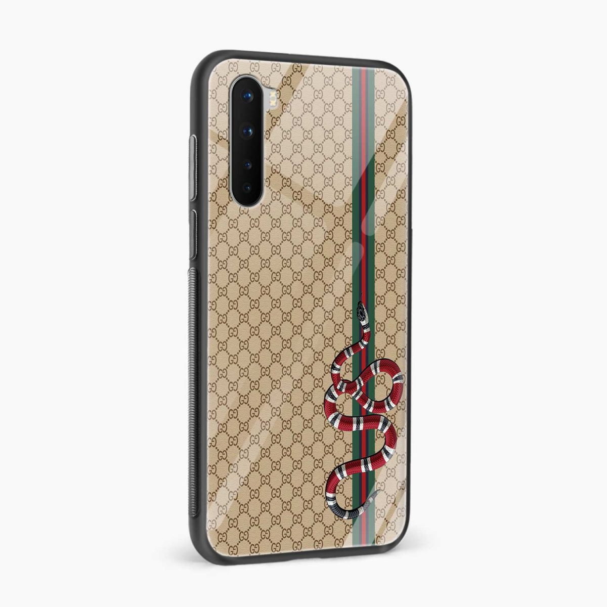 gucci snake pattern side view oneplus nord back cover