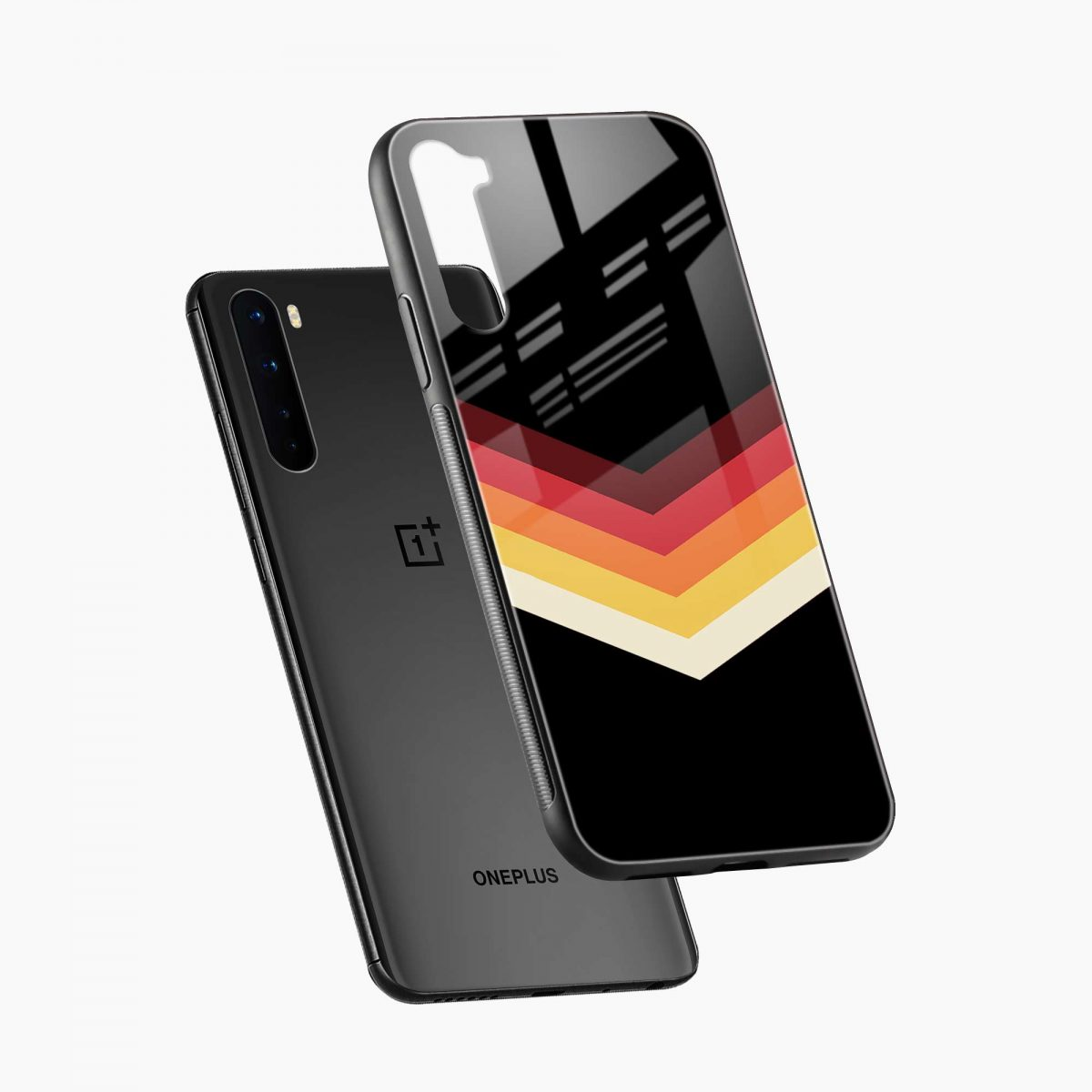rewind strips pattern diagonal view oneplus nord back cover
