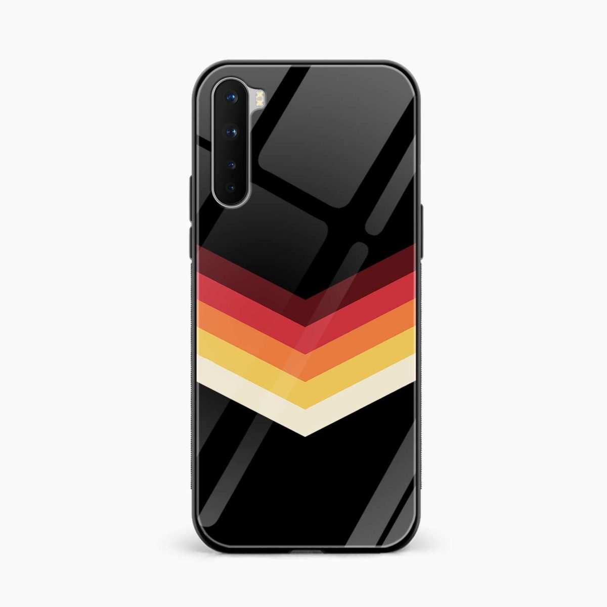rewind strips pattern front view oneplus nord back cover