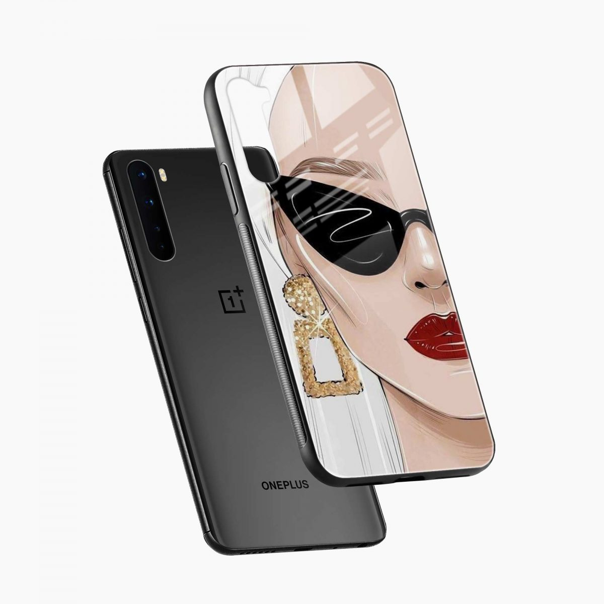 stylish women diagonal view oneplus nord back cover