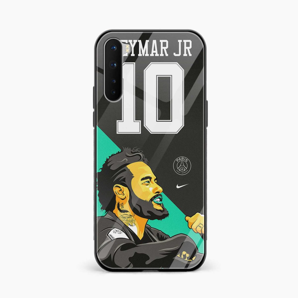 neymar jr 10 front view oneplus nord back cover 1