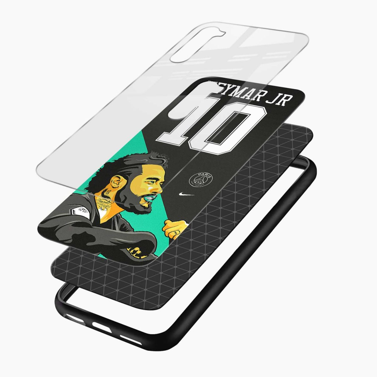 neymar jr 10 layers view oneplus nord back cover