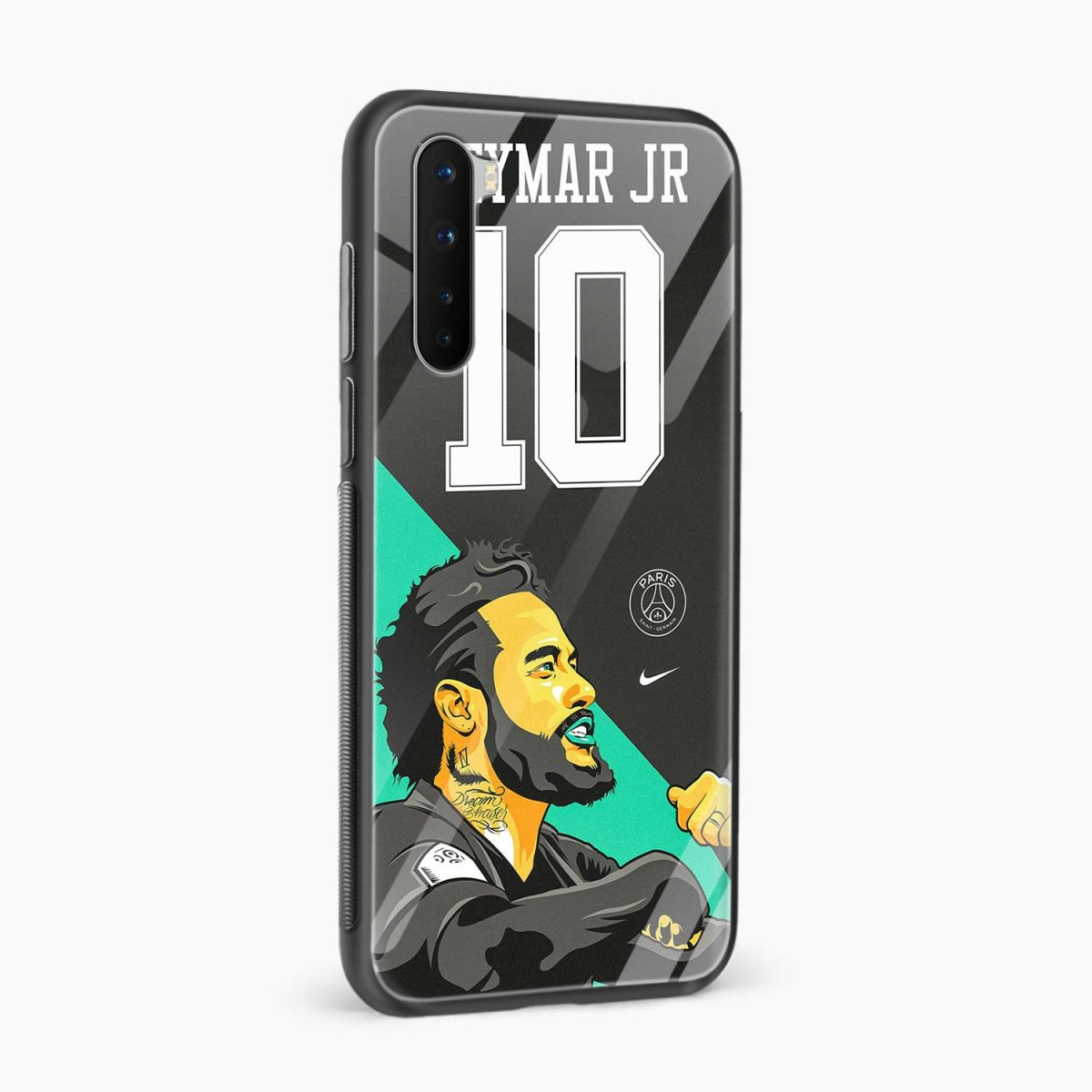 neymar jr 10 side view oneplus nord back cover