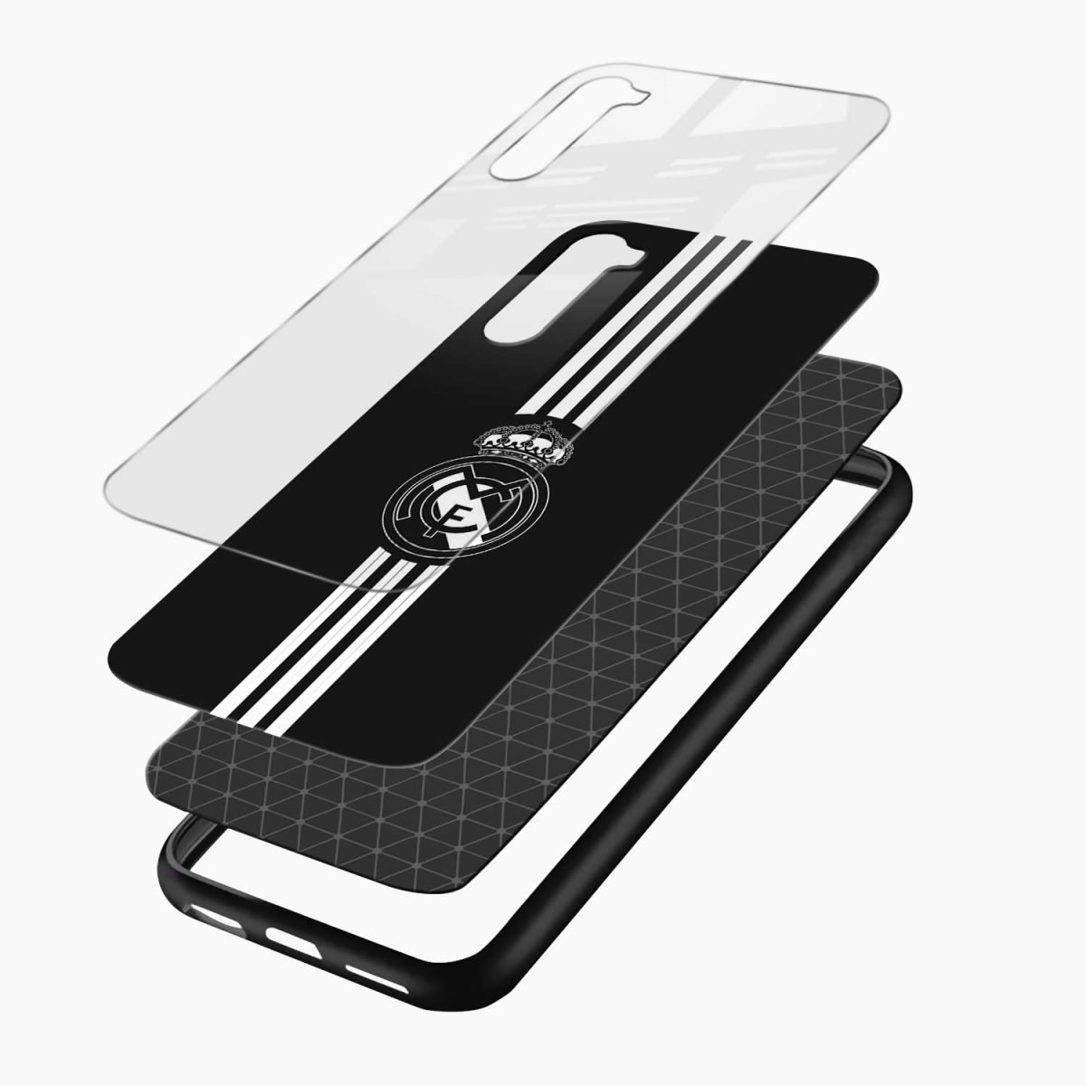 real madrid c f black layers view oneplus nord back cover