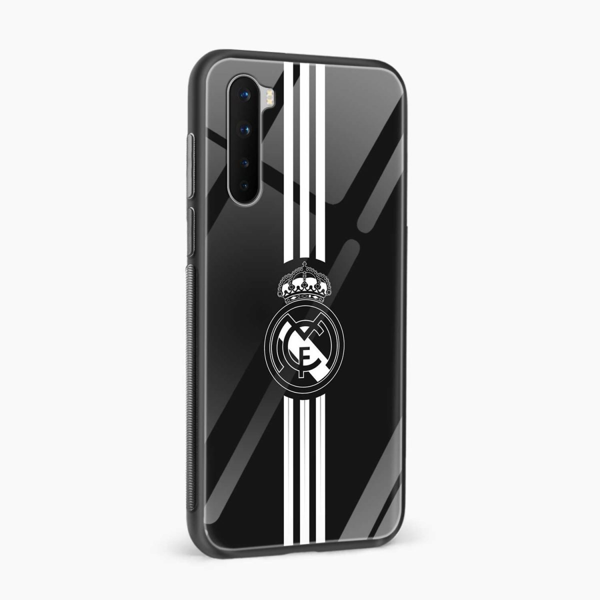 real madrid c f black side view oneplus nord back cover