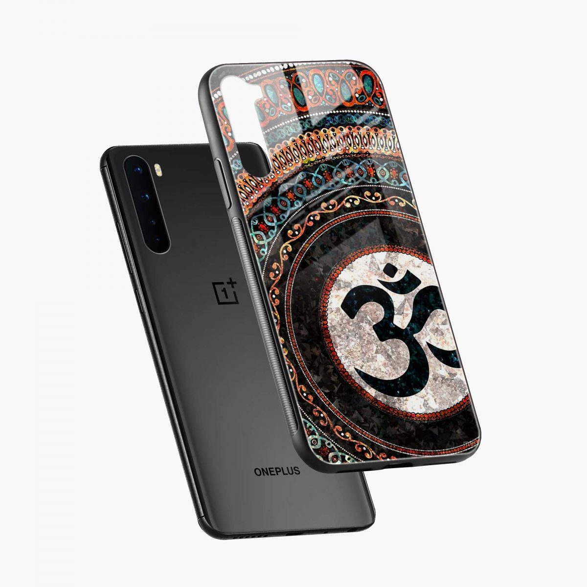 om glass diagonal view oneplus nord back cover