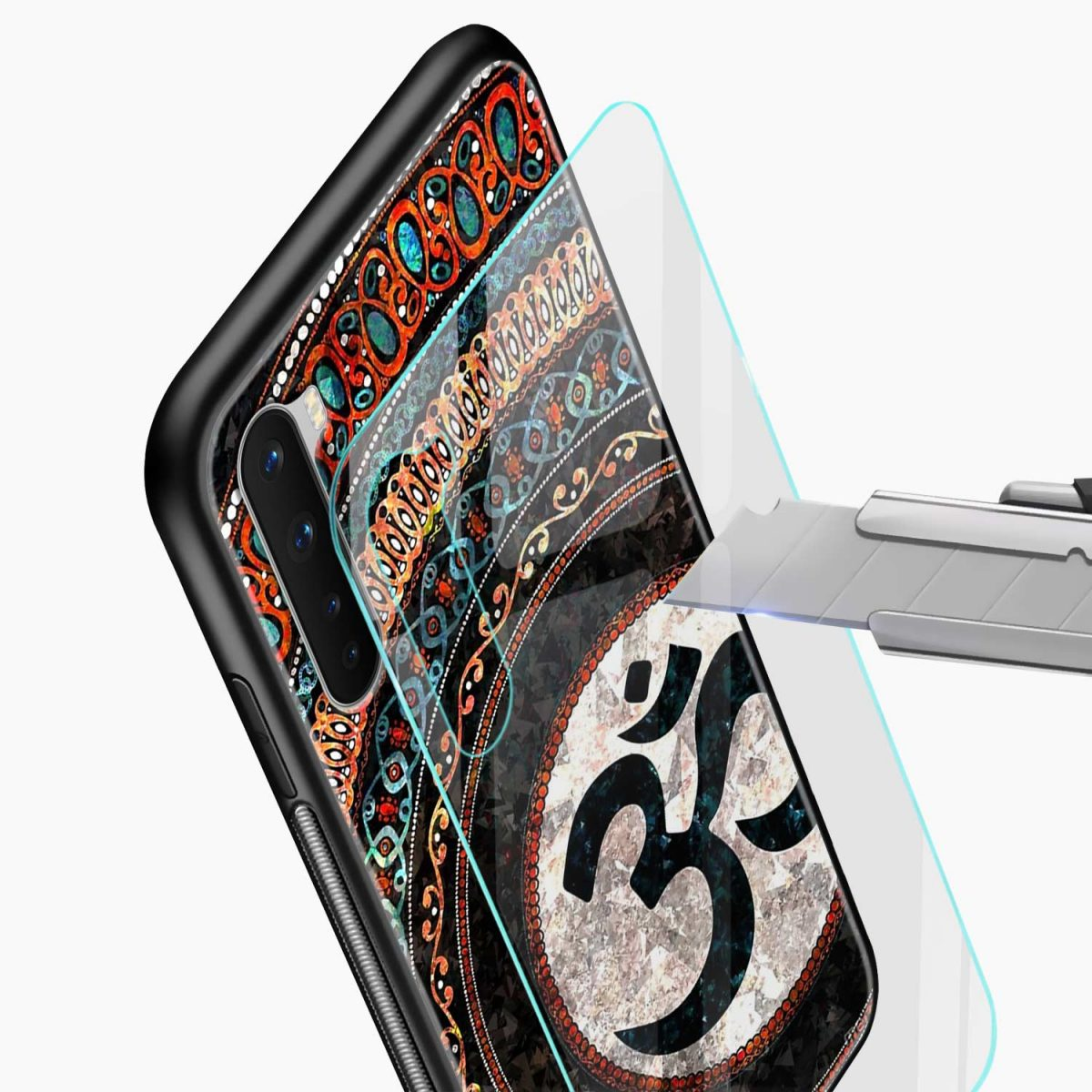 om glass glass view oneplus nord back cover