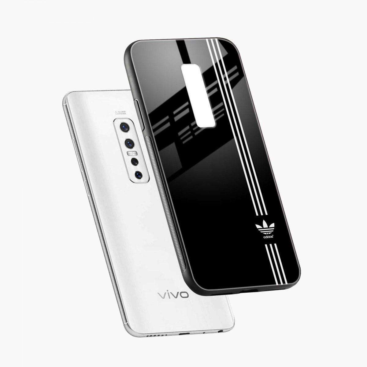 white strips adidas diagonal view vivo v17 plug back cover