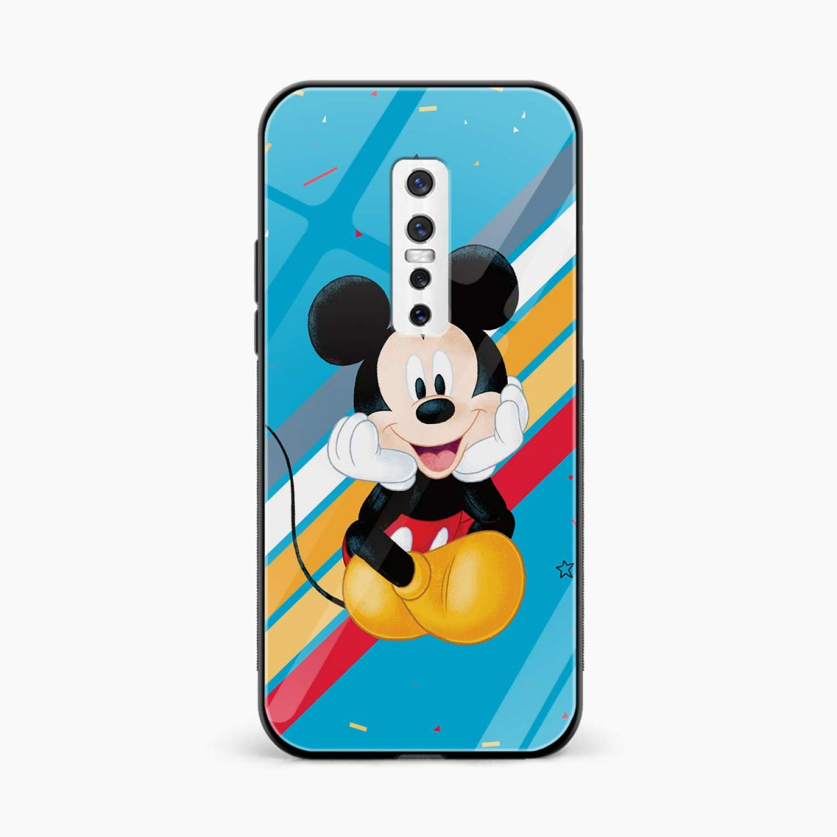 lovely cute mickey mouse disney cartoon front view vivo v17 plug back cover
