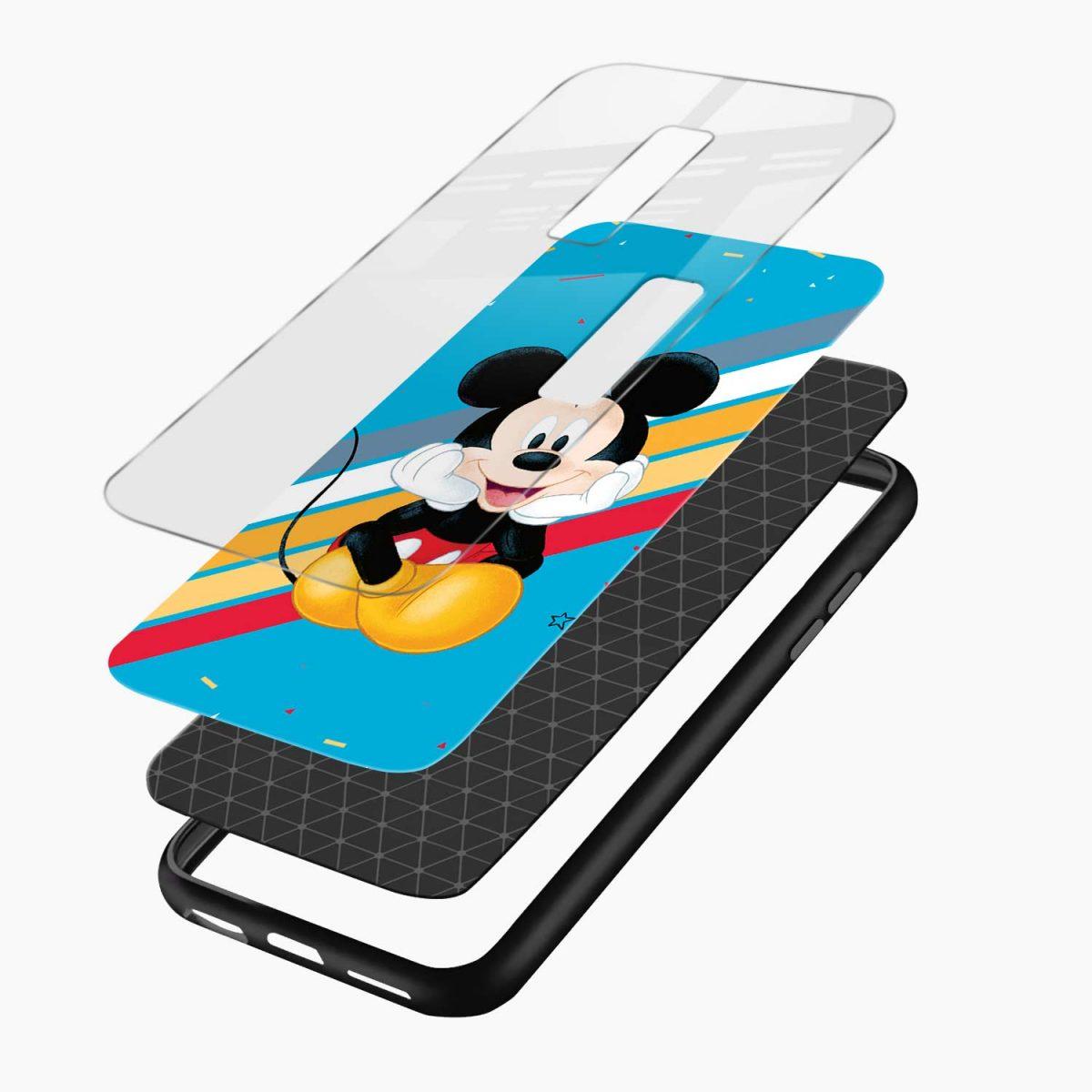 lovely cute mickey mouse disney cartoon layers view vivo v17 plug back cover
