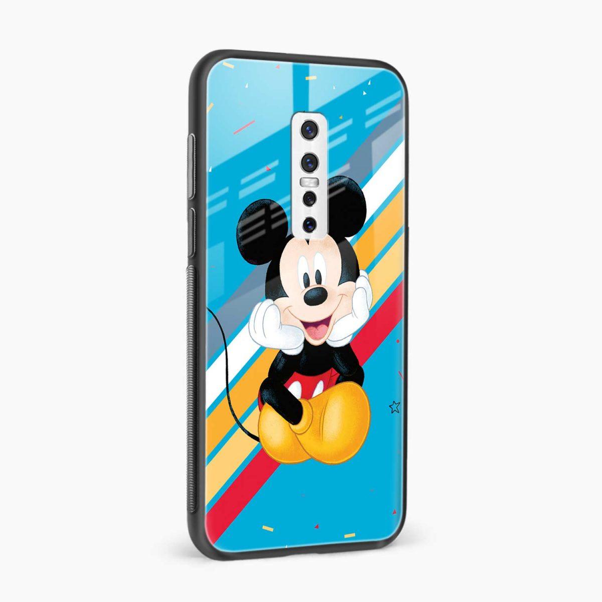 lovely cute mickey mouse disney cartoon side view vivo v17 plug back cover