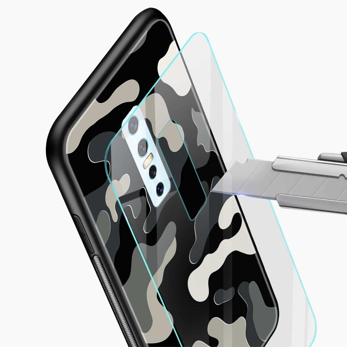 comoulfage pattern glass view vivo v17 plug back cover