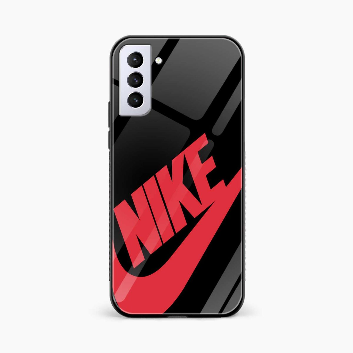 big red nike front view samsung s21 plug back cover
