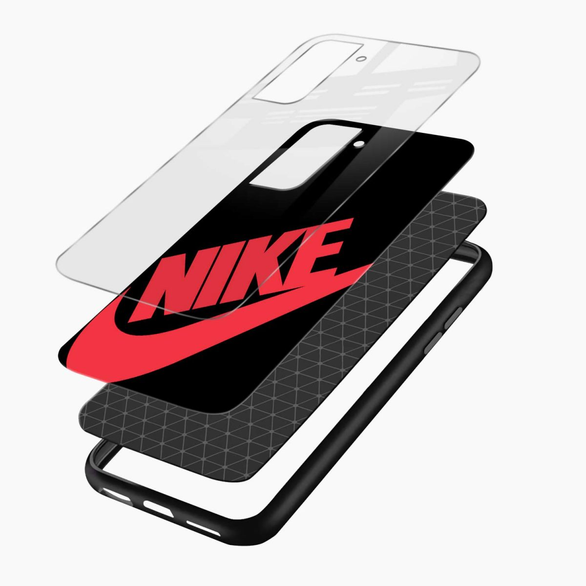 big red nike layers view samsung s21 plug back cover