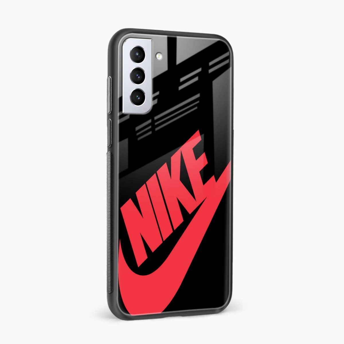 big red nike side view samsung s21 plug back cover