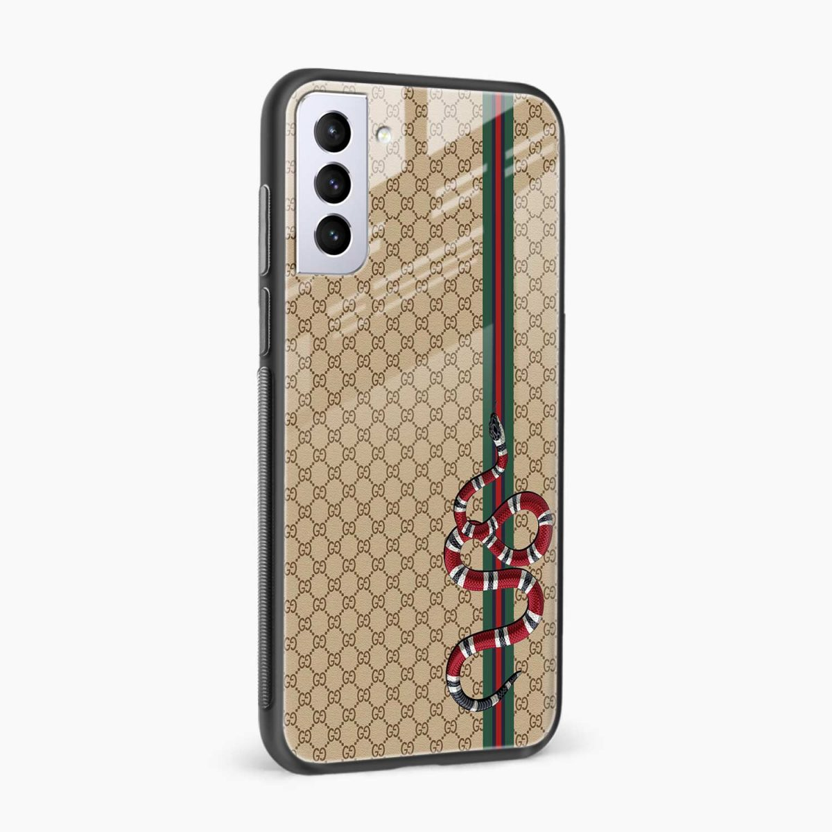 gucci snake pattern side view samsung s21 plug back cover
