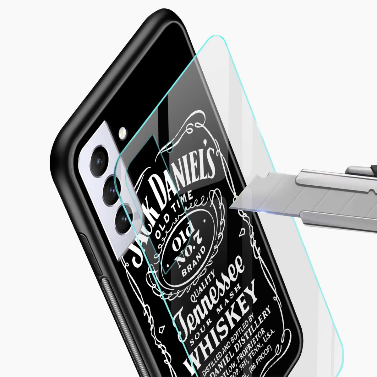jack daniels whiskey glass view samsung s21 plug back cover
