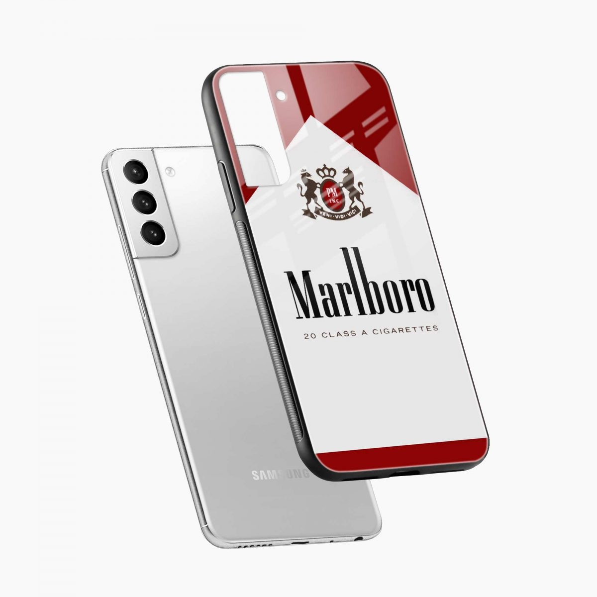marlboro cigarette box diagonal view samsung s21 plug back cover
