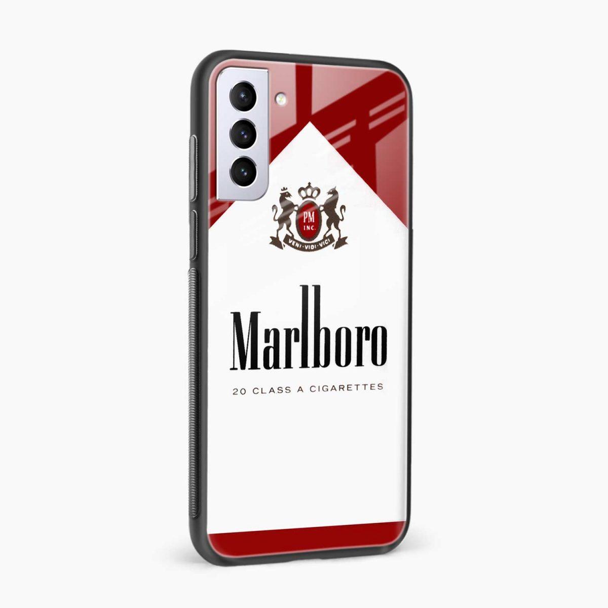 marlboro cigarette box side view samsung s21 plug back cover