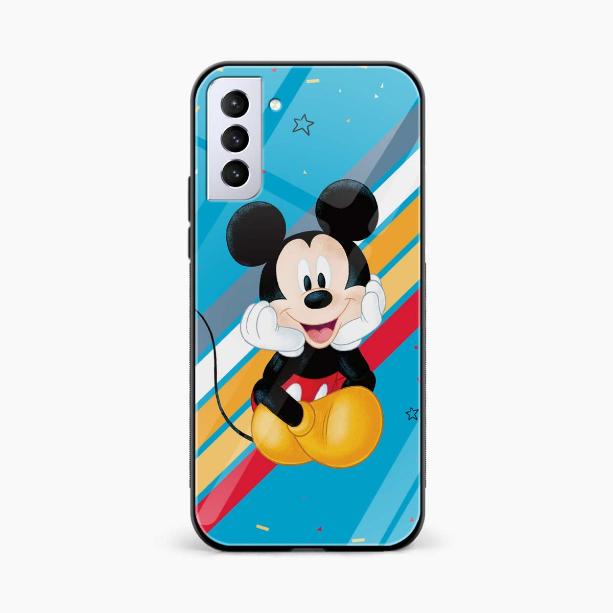 lovely and cute mickey mouse disney cartoon front view samsung s21 plug back cover