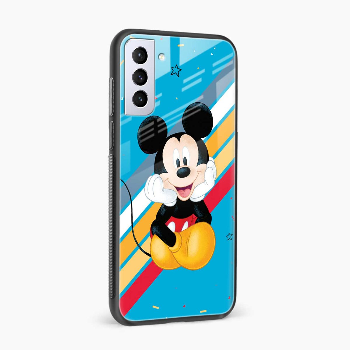 lovely and cute mickey mouse disney cartoon side view samsung s21 plug back cover