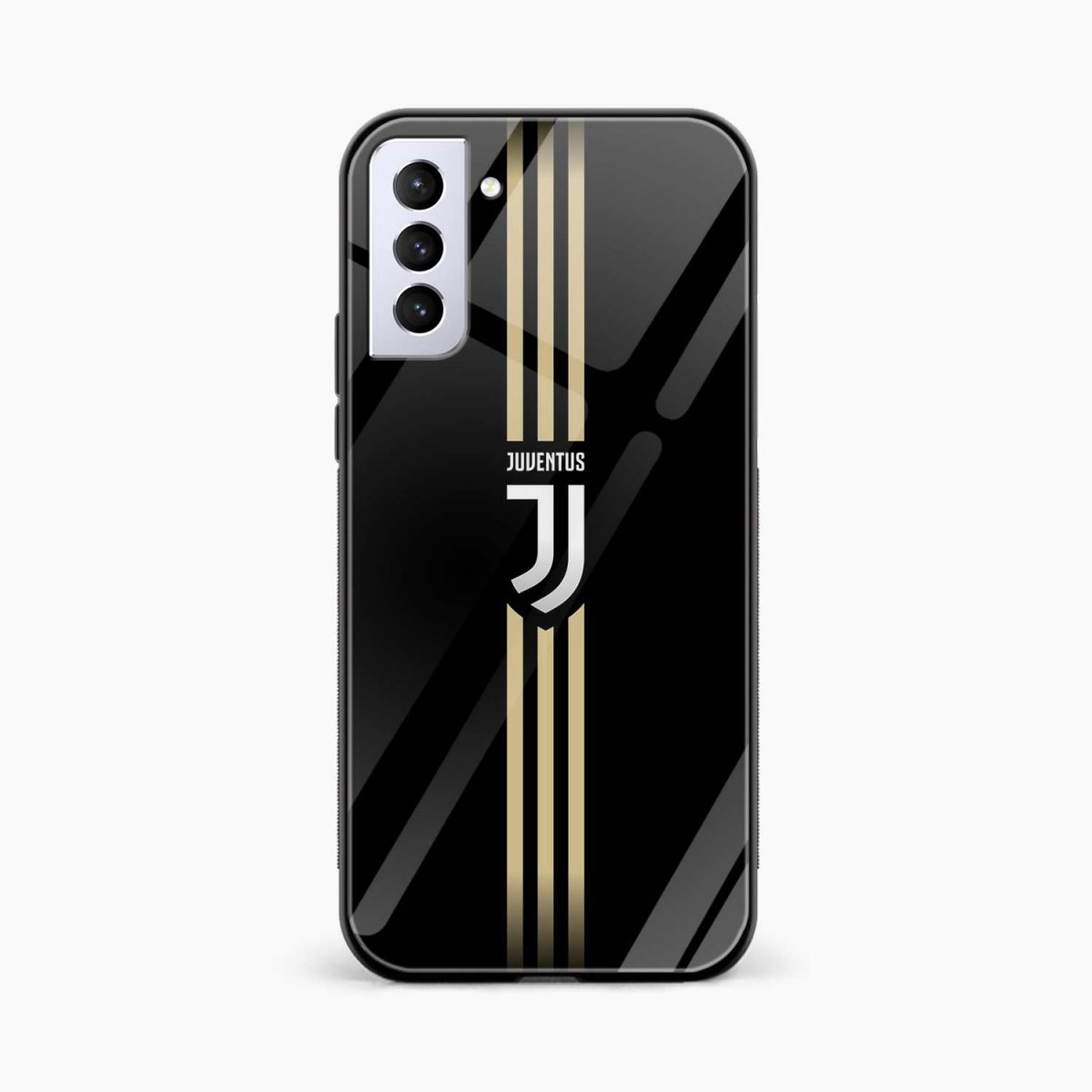 juventus golden strips front view samsung s21 plug back cover