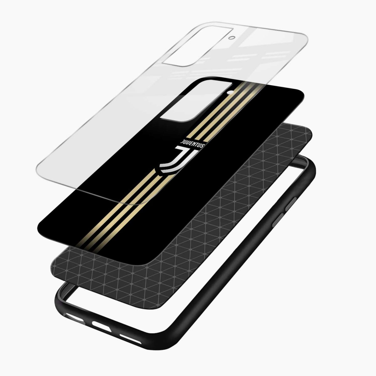 juventus golden strips layers view samsung s21 plug back cover