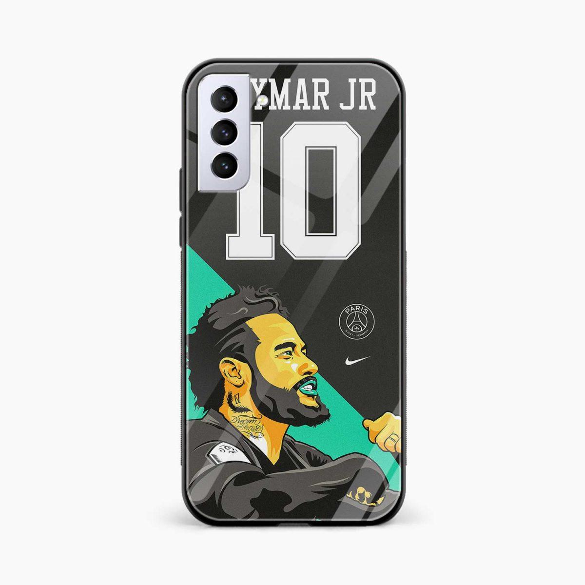 neymar jr 10 front view samsung s21 plug back cover 1