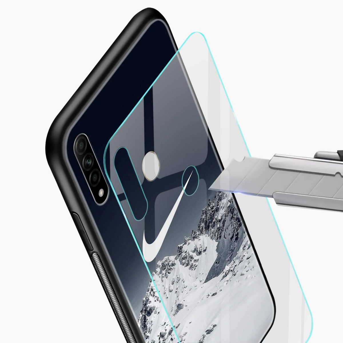 nike mountains glass view oppo a31 back cover