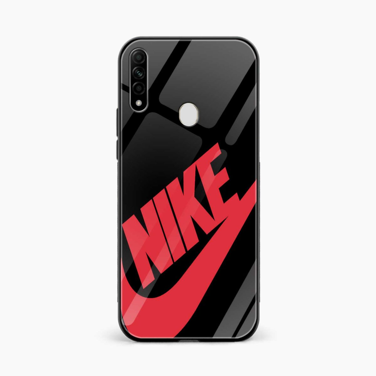 big red nike front view oppo a31 back cover