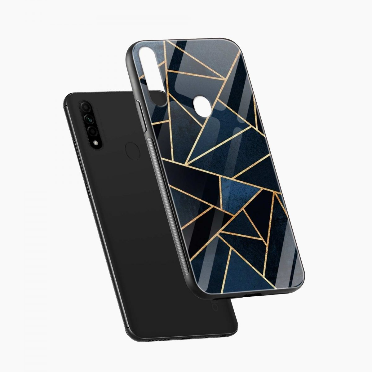 zig zag pattern diagonal view oppo a31 back cover