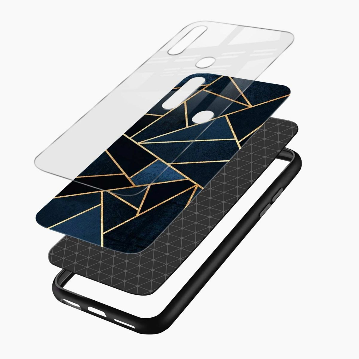 zig zag pattern layers view oppo a31 back cover