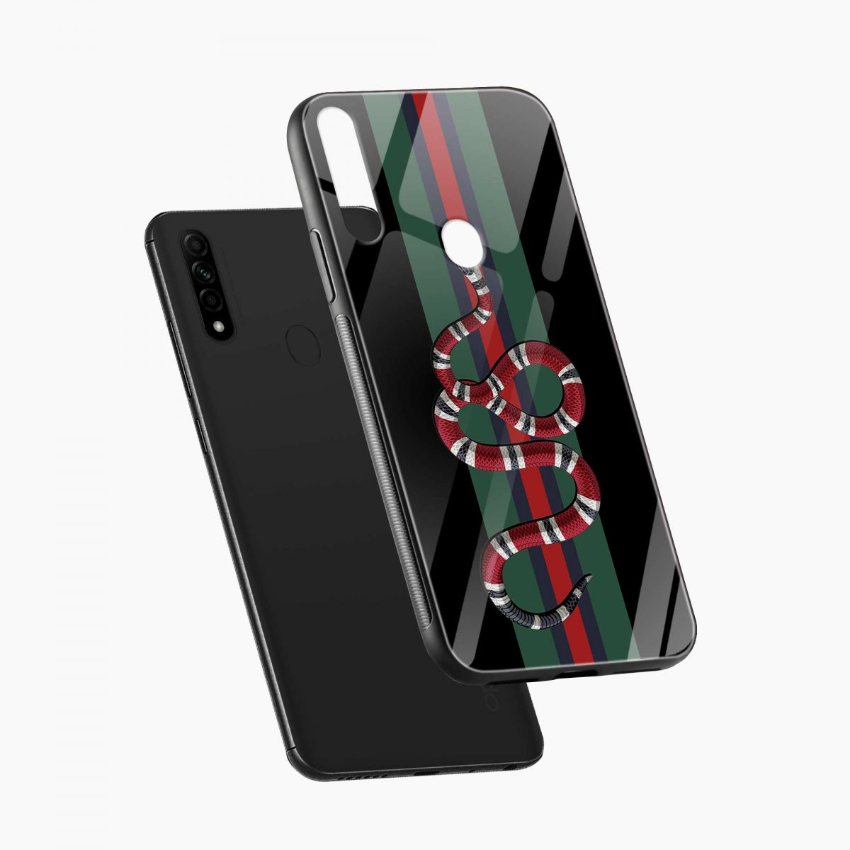 gucci snake with strips diagonal view oppo a31 back cover