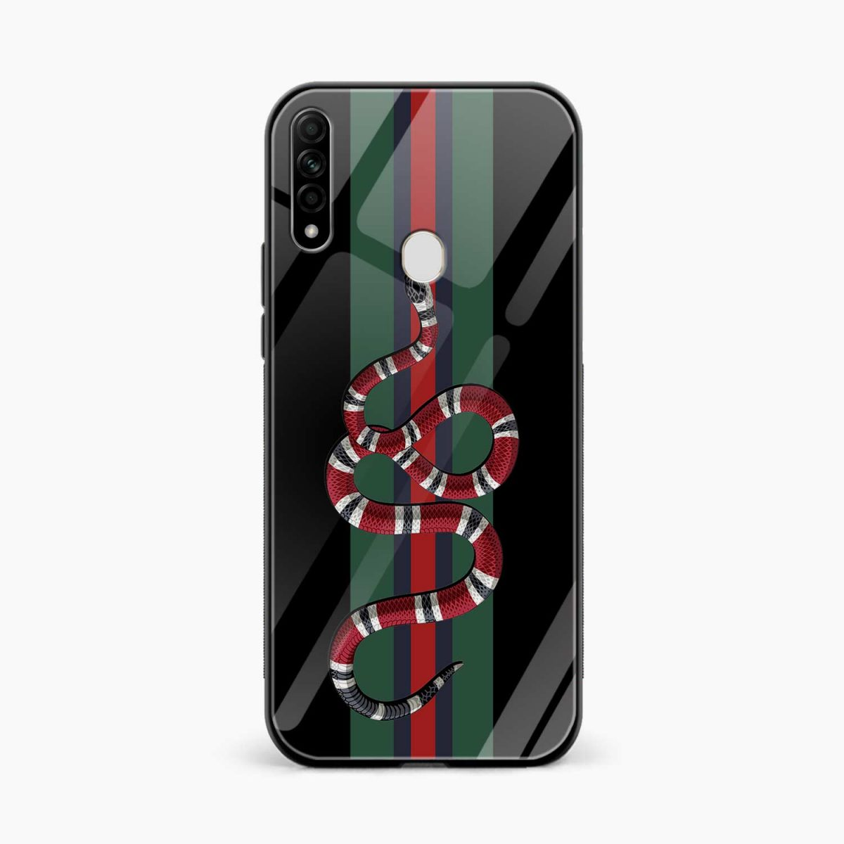 gucci snake with strips front view oppo a31 back cover