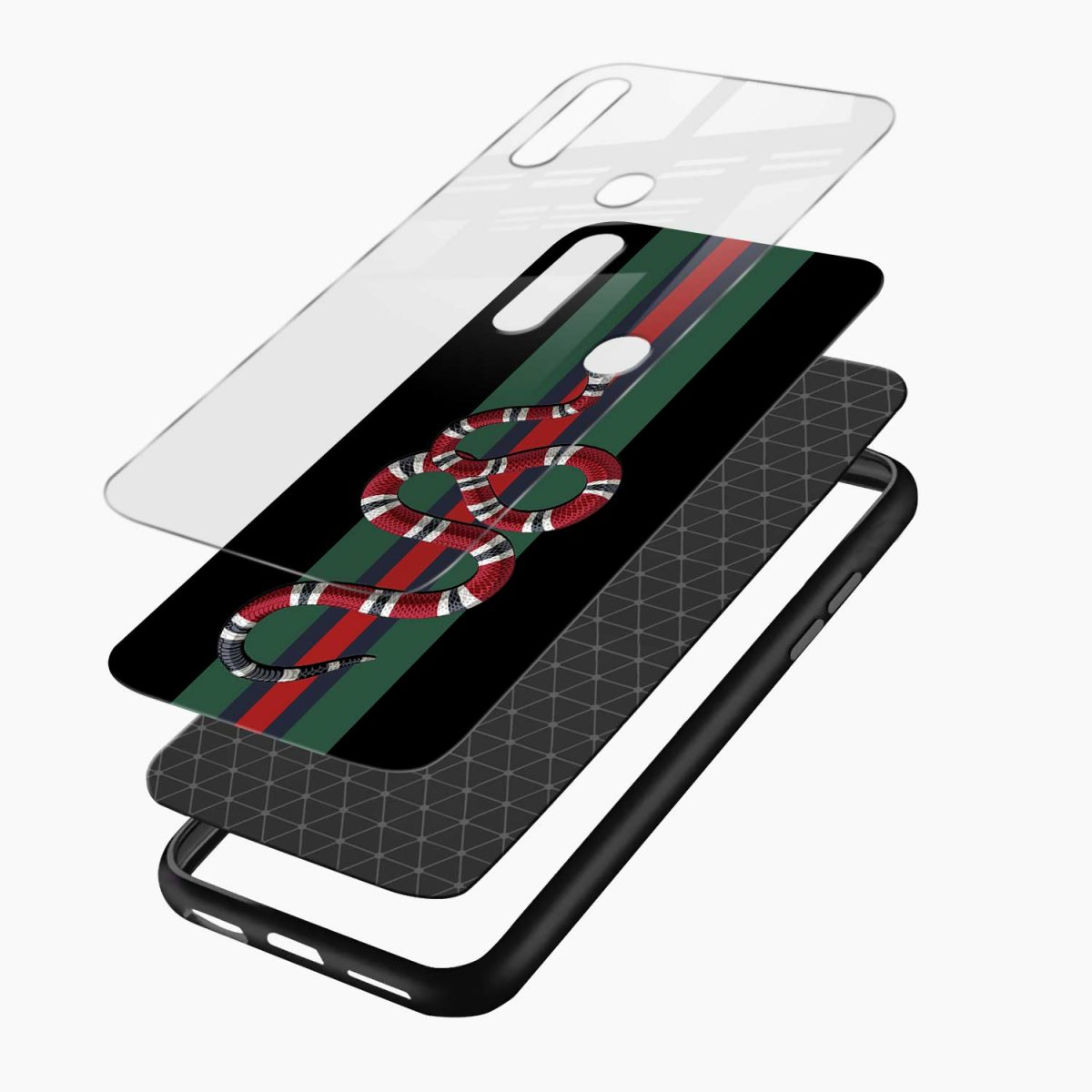 gucci snake with strips layers view oppo a31 back cover